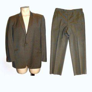 VTG 60s Men's SHARKSKIN Suit MOD Blazer Pants 44S